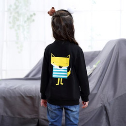 Wholesale Korean Children Boys Jacket - Children Clothes Girls Coat Spring Autumun Cotton Printing Baseball Uniform Baby Boys Grils Korean Version Clothing