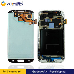 Wholesale Display Screen Galaxy S4 - Original AMOLED LCD Display Touch Digitizer Complete Screen Panels Full Assembly Replacement For For Samsung Galaxy S4 i9500 i9505 I545 I337