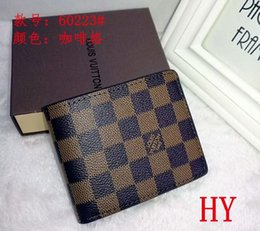 Wholesale style ladies dress - 2018 designer high quality real leather wallet card holders more letter credit card bus card wallets for men women with box A6