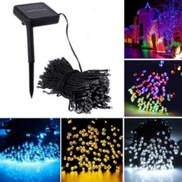 Wholesale Lighted Christmas Garland Outdoor - 100 LED Outdoor Colorful Solar Lamps LED String Lights Fairy Holiday Christmas Party Garlands Solar Garden Waterproof Lights CCA9218 100pcs