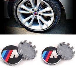 Wholesale Bmw 535i - 100 pcs 68mm wheel center rim hub caps car emblem badge decal sticker M power emblem logo car styling