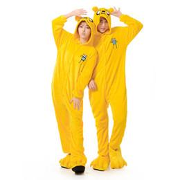 Pigiama adulto Uomo Donna Jake Dog Onesie Animal Cartoon Party Pigiama Giallo Flanella Inverno Caldo pigiama Abito da completo da