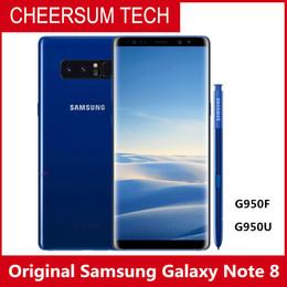 Câmera traseira original on-line-Desbloqueado Samsung Galaxy Note 8 N950F / N950U N9500 6G RAM 64G ROM Dual câmeras traseiras 12MP 3300mAh Original móvel smartphone Octa Core