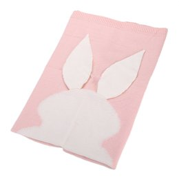 Wholesale Newborn Crib Bedding - Newborn Baby Blanket For Bed Sofa Quilt Easter Bunny Ear Tail Design Wool Knitting Blankets Easy To Clean 31rz B