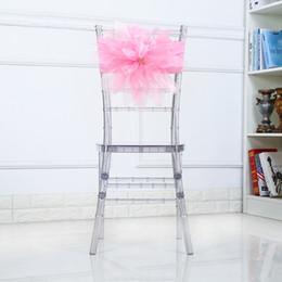 2019 decorações de cadeiras de casamento de laranja Originalidade Elastic Force Chair Sash Rose Padrão Arco Bandage Assento Fácil Desmontagem Decorar Caixões De Casamento Clássico Moda Reutilizável 13jj jj