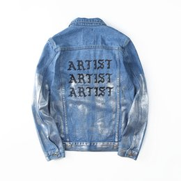 Wholesale Types Clothes Neck - Mens Fashion Clothing Spring Denim Jean Jackets Gothic Type Single Breasted Jacket Coats