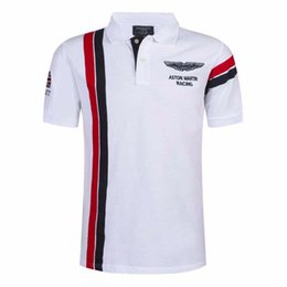 Wholesale slim fit blue shirts - Hot Sale New Designer Polo Fashion Brand Men Polo Shirt Solid Color Slim Fit Shirt Men Cotton Polo Shirts Casual Shirts