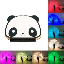 Wholesale Deco Kids - Novelty Book Light USB Rechargeable RGB LED Wooden Folding Mini Book Shape Light Bedroom Night Lamp For Kids Children Baby Gift