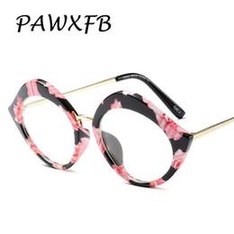 aac993cf04 Pop Age 2018 Sexy Floral Glasses Frames Mujeres Metal Optical Eyewear Moda  Lentes Transparentes Gafas Lectura Cat Eye Plain Glasses