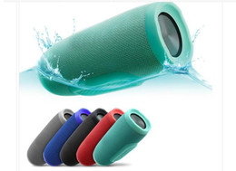 Wholesale Wireless Charging Usb - Hot Charge 3 Bluetooth Speaker Portable Wireless Speakers Outdoor Waterproof Subwoofer Powerbank 1200mAh Battery Charge3 In Stock DHL