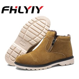 Men's Boots Shoes Kulada 2019 Mens Ankle Boots Leather Comfortable Spring&autumn Warm Waterproof Fashion Men Casual Lace-up Shoes