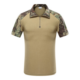 Tee tático on-line-Combate Mege Tactical camuflagem Army Men Polo Shirt, rápida assalto Acu Multicam Mens Tops Tees, Airsoft Paintball Polo tamanho S-XXL
