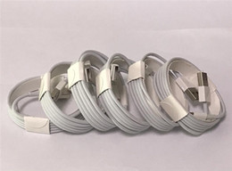 Wholesale White I5 - OD 3.0mm USB Data Charger Cable with 114 metal braided cables 1M 3FT AAAA Quality Charging USB Cable With retail packaging box for I5 I6 I7