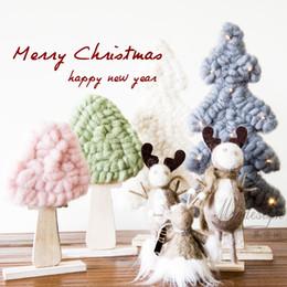 2019 presentes feitos à mão para crianças Decorações de natal luz artesanal árvore de natal pura lã ornamentos Crianças Quarto Decorativa Fotografia Presente Para Crianças desconto presentes feitos à mão para crianças