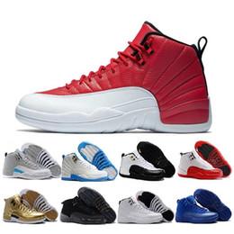 huge discount a6600 3f260 Nike Air Jordan 12 AJ12 Retro Mens 12 12s Basketball Schuhe der Meister  College Marine dunkelgrau Grippe Spiel Playoffs Französisch blau Turnhalle  rot ...