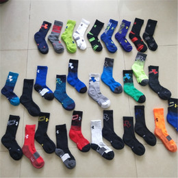 Wholesale wholesale socks hosiery - Brand UA Kids Socks Under Sports Basketball Stockings Armor Children Cotton Screw Mid-calf Sock Boys Girls Hosiery Winter Autumn Socks