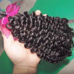 Wholesale Hair Weave Suppliers - Hello Sister New DHgate Supplier Cheap Virgin Brazilian Kinky Curly Human Hair Weave 1 bundle 1 piece Sample Hair