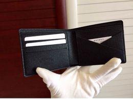 2019 bio box all'ingrosso Spedizione gratuita! Incredibile qualità all'ingrosso designer portafoglio corto bi-fold portafoglio uomo in pelle M60895 N60895N62633 Portafoglio regalo Brazza sconti bio box all'ingrosso