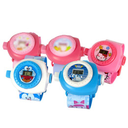 Wholesale Children Kids Cute Wrist Watch - Children Cartoon Watches Cute Doraemon Hello Kitty 3D Stereoscopic Projection Wrist-watches For Kids Fashion Watches Free DHL 688