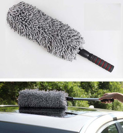 Wholesale Vehicle Cleaning Brushes - Retractable Car Cleaning Brushes Circular car wax brush Vehicle wash duster dust removal car brush Microfiber mop YW478