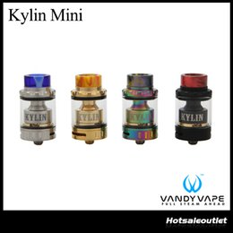 Wholesale built fit - Authentic Vandy Vape Kylin Mini RTA Tank 3ML 5ML Atomizer Honey Comb Airflow M4 in Build Deck Fit E Cigarette Box Mod