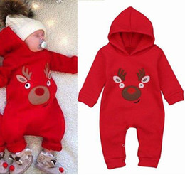 ce103e9bf fashion 2018 baby winter christmas clothing reindeer rompers kids long  sleeve jumpsuits toddler boys girls clothes infant onesies bodysuits
