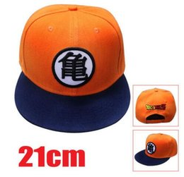 Wholesale dragon ball z goku costume - OHCOMICS 21cm Anime DRAGON BALL Z Goku Sun Hat Cap Trucker Curved Cosplay Costume Collection Caps