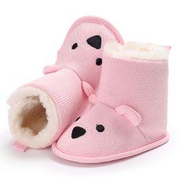 Sapatos de Inverno Do Bebê Botas Dos Desenhos Animados Urso Primeiros Caminhantes De Malha Manter Botas Quentes Botas Recém-nascidos Da Criança Infantil cheap shoes winter bear de Fornecedores de sapatos urso de inverno