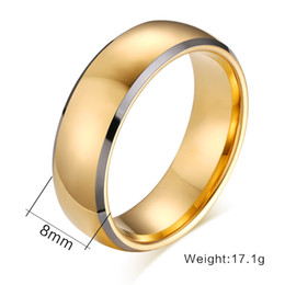 Wholesale Tungsten Carbide Ring Free Shipping - Wholesale-Top quality Wedding ring tungsten carbide rings 24k gold plated engagement wedding men and women ring free shipping