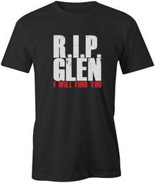 9d09ffa18d0 RIP Glenn Mens Unisex T-Shirt The Walking Dead Funny Quote Present Gift  Print T shirt Men Short Sleeve Short Sleeve print