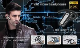 H. 264 1080P мини-камера Bluetooth наушники гарнитура DVR 5.0 мега мини видеокамера видеомагнитофон наушники V22 в розничной коробке от
