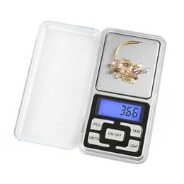 elettronica di visualizzazione Sconti I mini gioielli elettronici della scala di Digital pesano la scala dell'esposizione dell'affissione a cristalli liquidi della tasca dell'equilibrio della bilancia con la scatola al minuto 500g / 0.01 500g / 0.1g