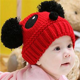 2019 детская шапка вязания дизайн Детская шапка для вязания крючком с Panda Design Прекрасные малыши Девочки Мальчики Эластичная зимняя теплая шапка дешево детская шапка вязания дизайн