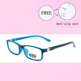 93340b1332 Marco encantador de los vidrios Muchacha de los niños Muchacho Vidrios  elásticos Pierna Miopía Marco de la lente Gafas ópticas Eyeglasses Nuevo  Y8804-25