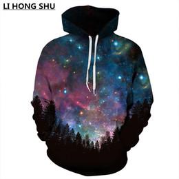 Wholesale Star Galaxy S - Wholesale-Space Galaxy 3d Sweatshirts Men Women Hoodies With Hat Print Stars Nebula Autumn Winter Loose Thin Hooded Hoody Tops S-5XL