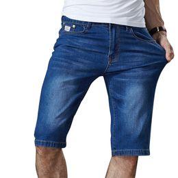 106c66b0ca5 Mens Summer Stretch Lightweight Blue Denim Jeans Short for Men Jean Shorts  Pants Plus Size 32 33 34 35 36 38 40 42 44 46 S913