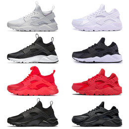 Wholesale low cut shoes for men - Huarache 1.0 4.0 Running Run Shoes For Men Women triple White Black red grey Huaraches Trainers sports sneaker size 36-45