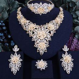 2019 кольцо невесты из бисера GODKI 76MM Flower Blossom Super  Women Wedding Naija Bride Cubic Zirconia Necklace Ring Bangle Earring Dubai Jewelry Set скидка кольцо невесты из бисера
