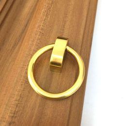 2019 kupfer-schubladen-knöpfe Moderne einfache Mode Kupfer Material Drop Ringe Schublade Küchenschrank Türgriffe zieht Kupfer Kommode Schrank Griffe rabatt kupfer-schubladen-knöpfe