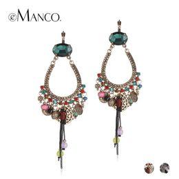 Wholesale large vintage pendant - eManco Ethnic Vintage Charms Large Hanging Dangle Drop Earrings for Women Antique Pendant Ear Brand Jewelry