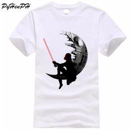 Wholesale vintage tee shirt designs - Vintage Darthworks Design T shirt Men Short Sleeve Cotton Tops Tees 2018 Summer Men's Tshirt The Darth King Printed T-shirt