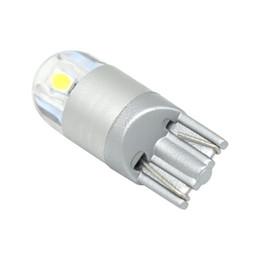 Tronc rouge en Ligne-10pcs T10 3030 2SMD LED W5W ampoules de voiture instrument lumières 168 194 feux de gyrophare feux de plaque d'immatriculation lumière lampe de coffre