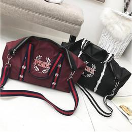 Wholesale Nude Ship Girls - Handbags Shoulder Bags Women Love Pink Handbags Large Capacity Travel Duffle Striped Waterproof Beach Shoulder Bag Free Shipping