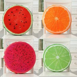 Wholesale Plush Sofas - Fruit Shape Cushion Creative 3D Watermelon Plush Throw Pillows Home Sofa Decoration Gift Many Styles 14mx C R