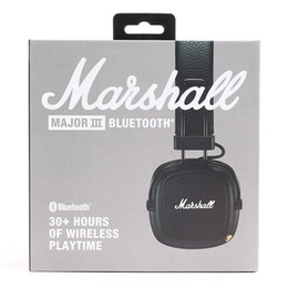 Auriculares principales de marshall online-Marshall Major III 3.0 auriculares Bluetooth con micrófono Deep Bass Hi-Fi DJ Headset Wireless Major 3 Professional Retail box Flydream