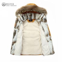 2a34ef89eff69 Raccoon Fur Warm White Duck Feather Coat Long Winter Jacket Women Down  Parka Plus Size 2018 Rabbit Hair Hooded Outerwear Okd449 Y18102602