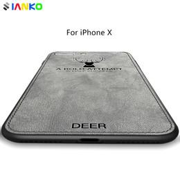 Etui en tissu pour iPhone X Silicone + tissu antidérapant avec couverture en motif de cerf pour iPhone Xr / Xs / Xs Max ? partir de fabricateur