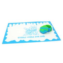 204x300mm антипригарным Рик dab коврик силиконовые листы воск коврик термостойкий прямоугольник стекловолокна зеленый коврик мед масло контейнер от