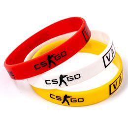 weißes kreuzgummi Rabatt Spiel Spielen CS GO Silikonkautschuk Diabetes CSGO Counter Strike Rot Gelb Weiß Cross Fire Braclet