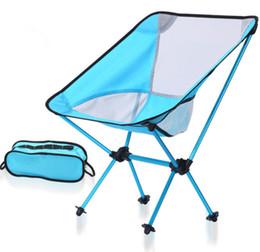 Wholesale Outdoor Aluminium Chair - High quality Outdoor camping folding chair moon chair, aviation aluminium alloy fishing chair, leisure beach chair